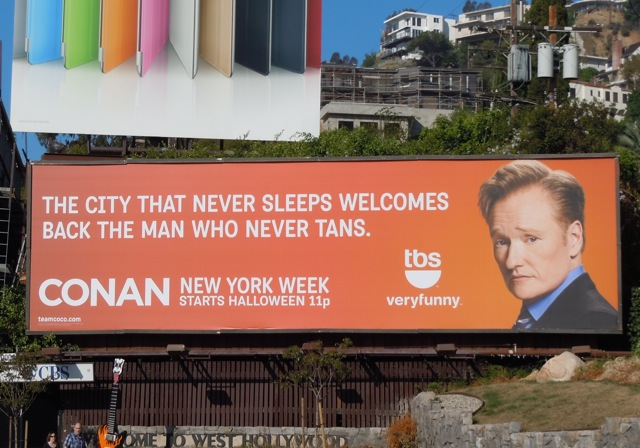 Conan Show NYC billboard
