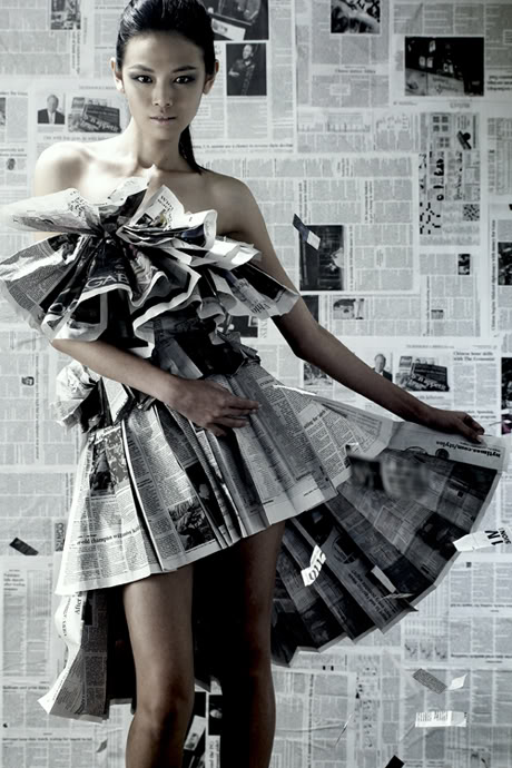 Newspaper Dresses Make Headlines