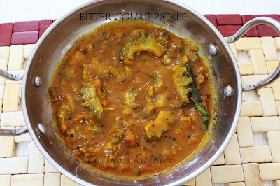 bitter gourd pickle / pavakka achar ayeshas kitchen recipes