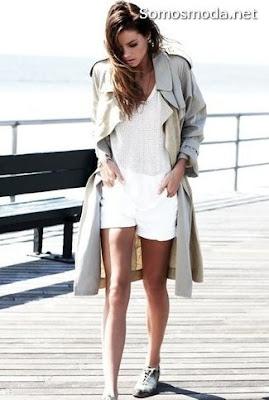 Pantalones cortos blancos