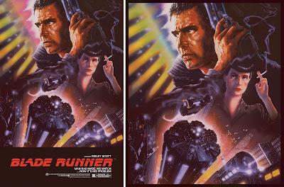 Blade Runner Movie Poster Foil Variant Screen Print by John Alvin x Justin Ishmael x Bottleneck Gallery