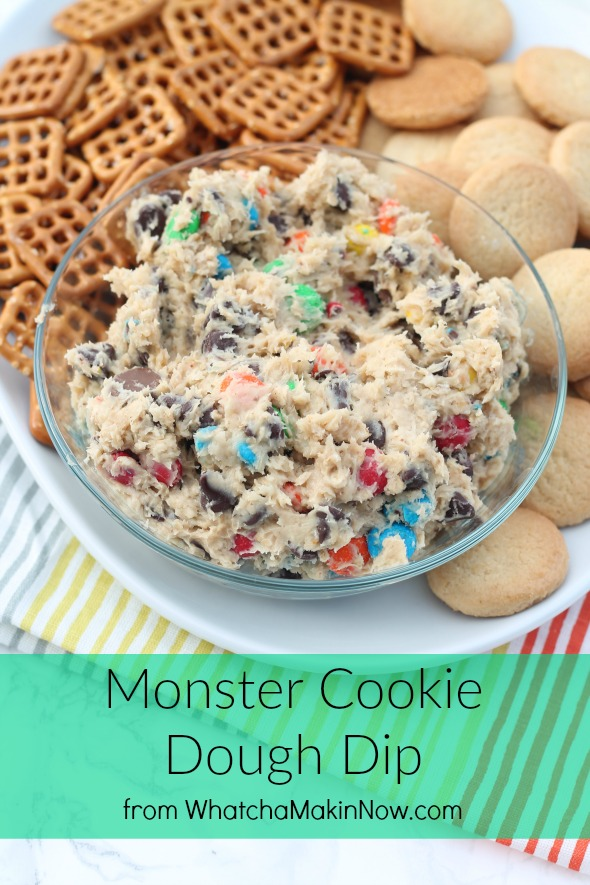 Monster Cookie Dough Dip - So addictive and easy!