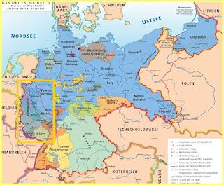 Mapa de Alemania en 1919