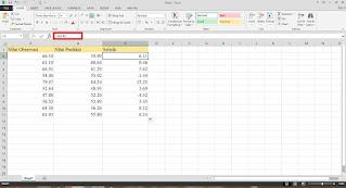 Cara menghitung RMSE dengan excel