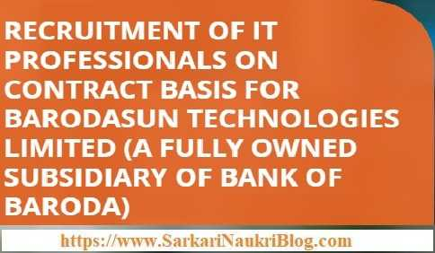 BarodaSun Technologies IT Professionals Vacancy