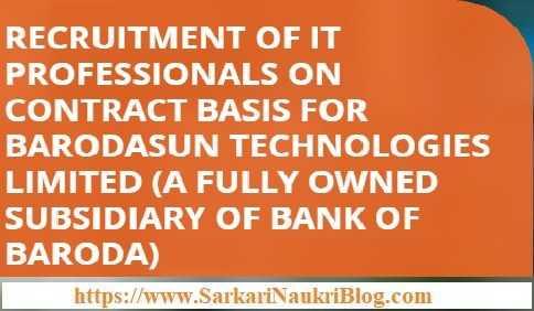 BarodaSun Technologies IT Professionals Vacancy