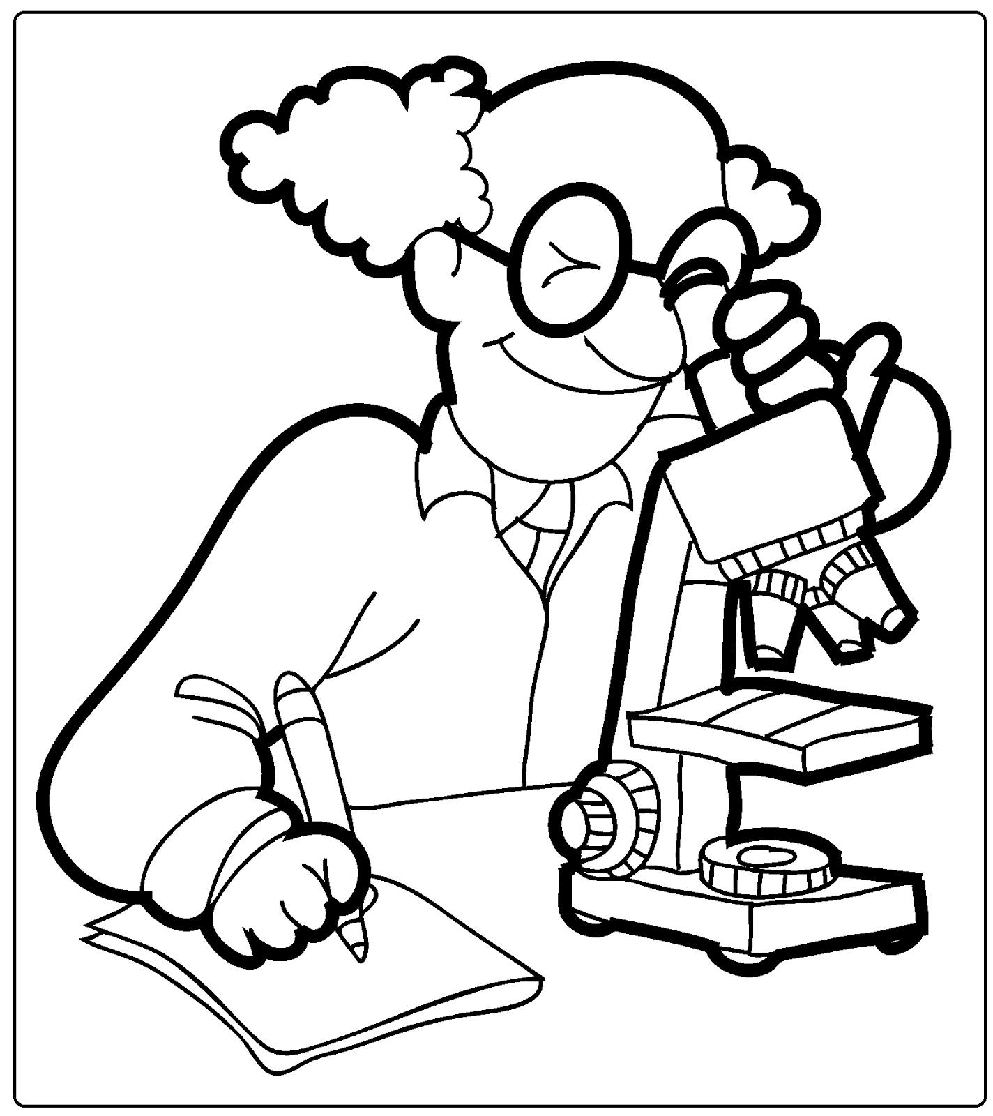 desenhos das profissões para colorir e imprimir sÓ escola