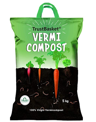 TrustBasket Organic Vermicompost Fertilizer Manure for Plants
