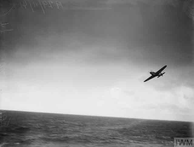 Fairey Swordfish flying from HMS Victorious, 30 November 1941 worldwartwo.filminspector.com