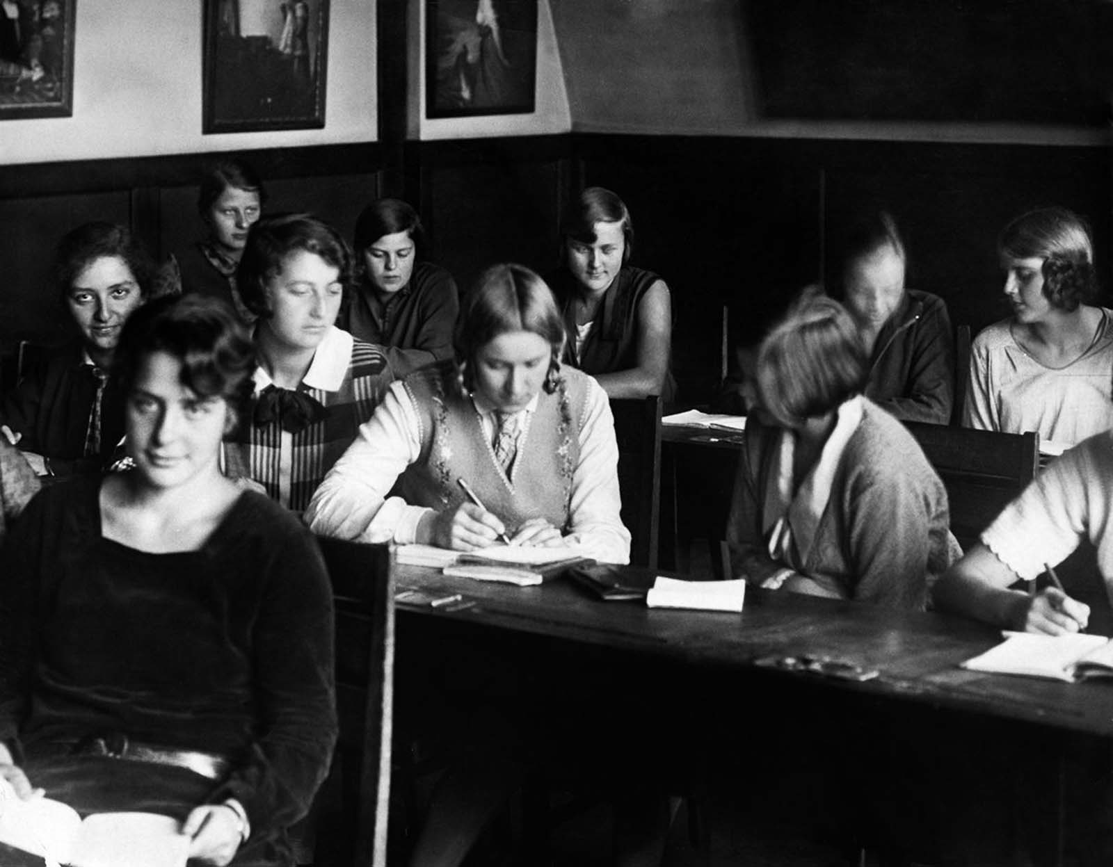 Mayer at school in Germany. 1928.