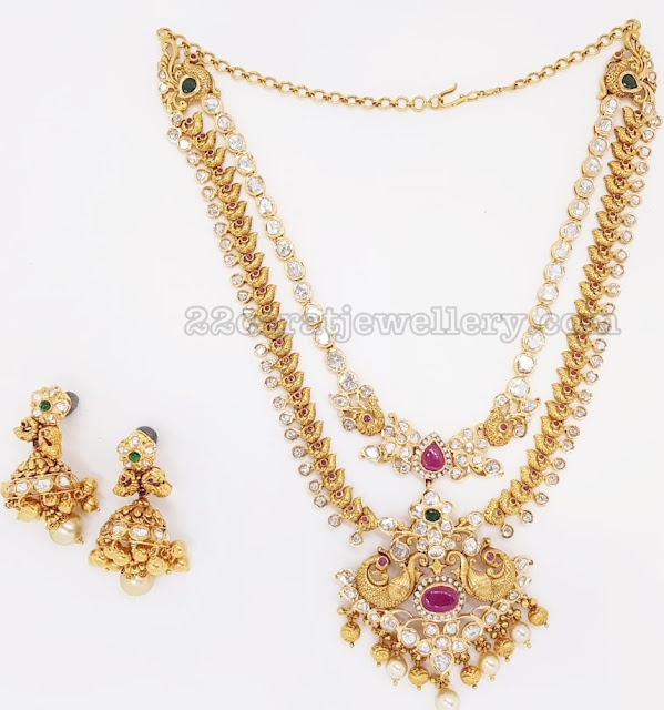 Traditional yet Trendy Necklace by Kothari Jewelry
