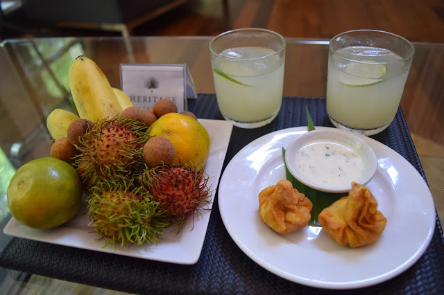 Heritage Suites Hotel Siem Reap welcome drinks snacks