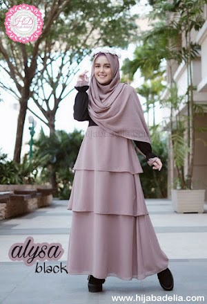 Alysa Black: Dress + Khimar Cuma Rp:359.000
