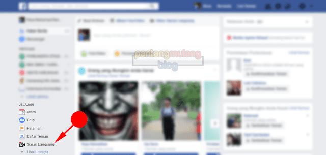 Melihat siaran langsung di Facebook