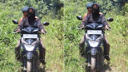 Rezka Oktoberia Tinjau Irigasi dengan motor