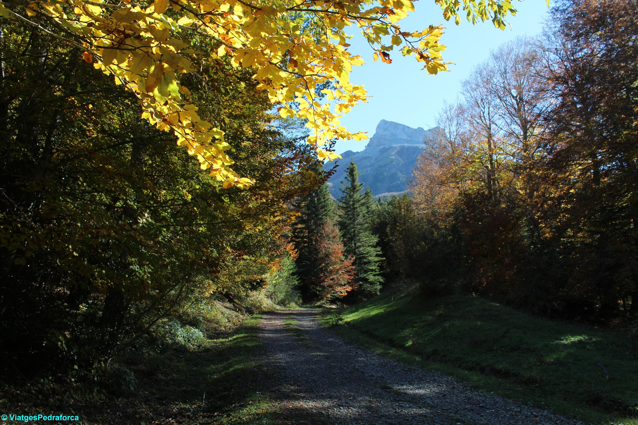 Pirineu Aragonès, Osca, Parque natural de los Valles Occidentales, colors de tardor, senderisme