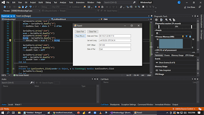 working VB code in Visual Studio