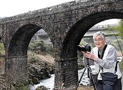 平野暉雄さん石橋を撮影 - きゃ...