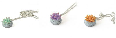 Succulent Charm Necklaces at Lottie Of London Jewellery