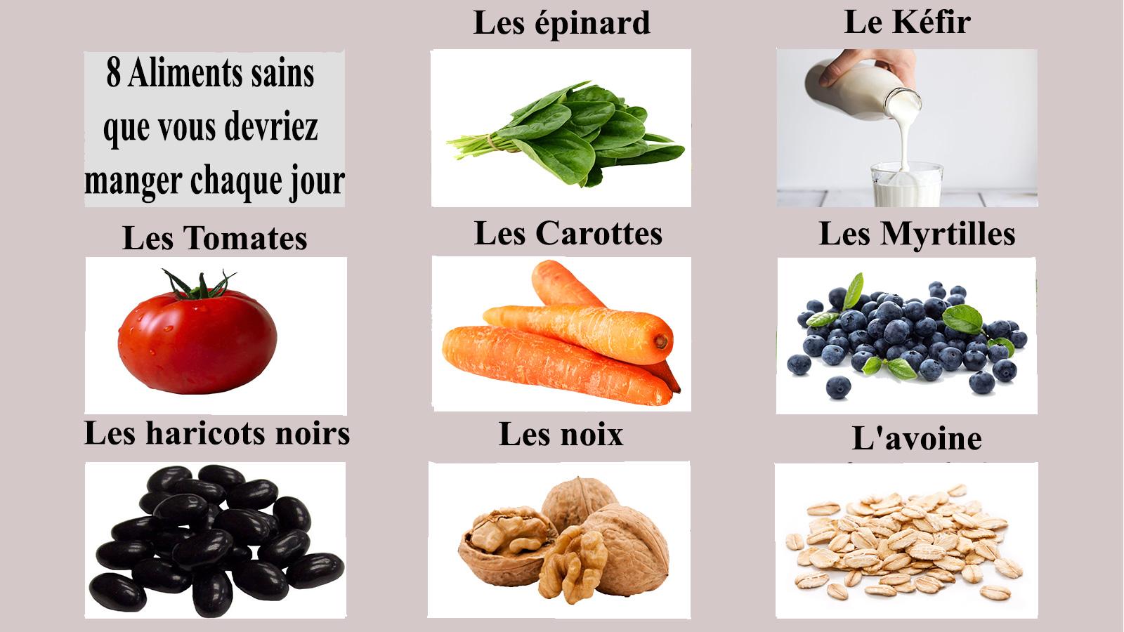 8 Aliments sains que vous devriez manger chaque jour