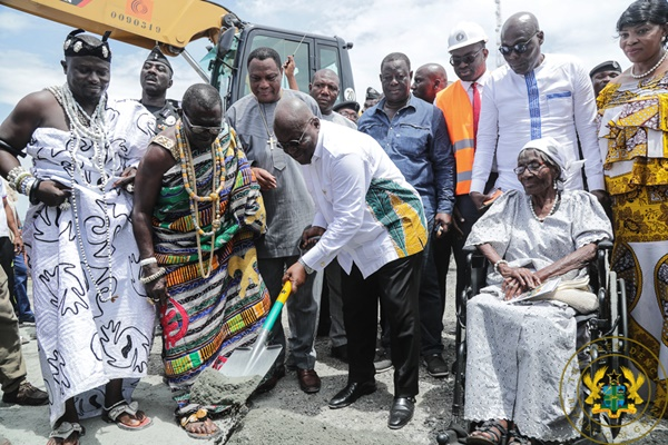 President Akufo-Addo Cuts Sod For Construction Of $135 Million Obetsebi-Lamptey Interchange