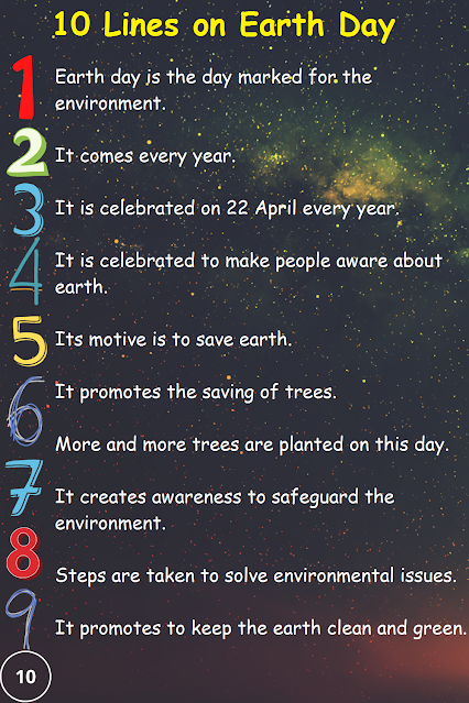 Some Points About Earth Day