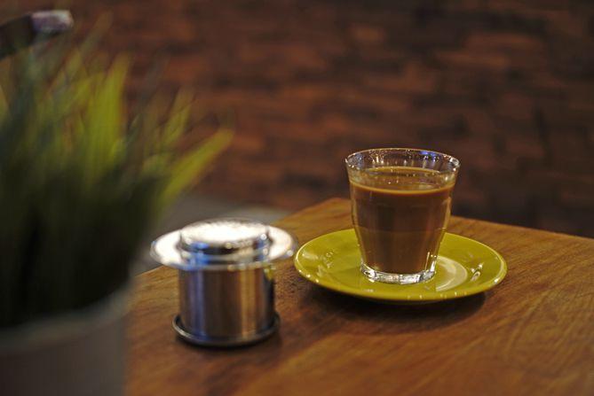 Minuman Vietnam Drip sudah disajikan