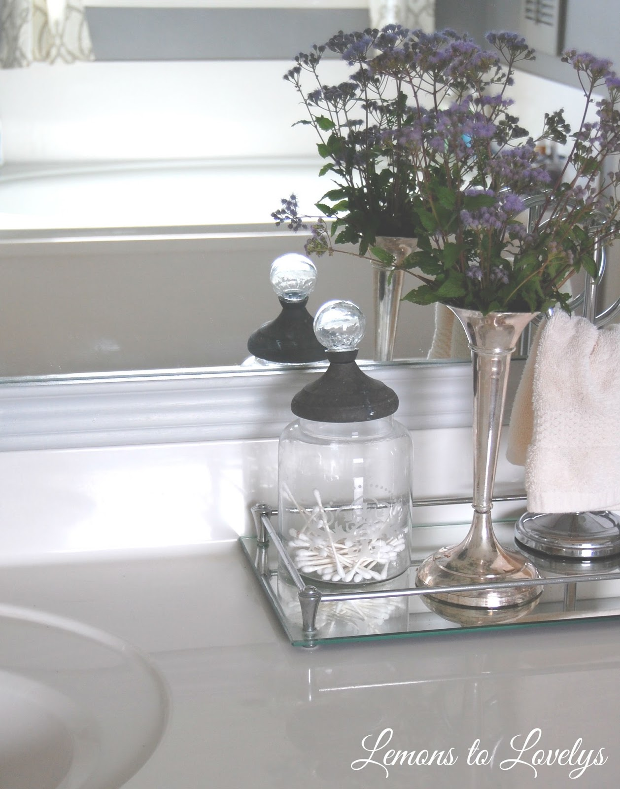 Bathroom Mirror Tray master bathroom makeover – lemons to lovelys