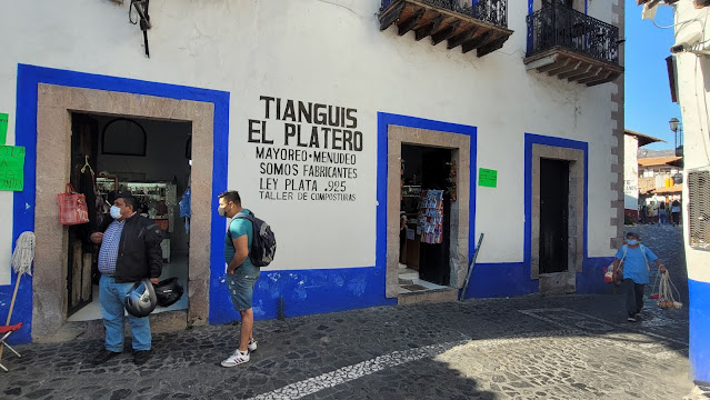 Silver tianguis in central Taxco