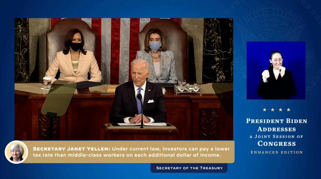 Joe Biden Janet Yellan want to raise taxes State of the Union 2021 to Congress