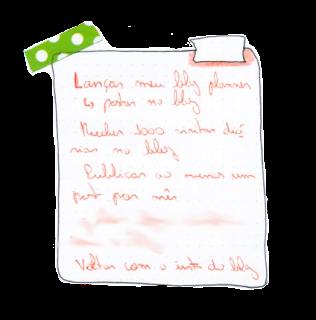 A imagem mostra um pedaço da lista de metas anexada no início da postagem, com as metas que serão explicadas nos tópicos a seguir