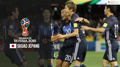 Skuad Susunan Pemain Jepang di Piala Dunia 2018