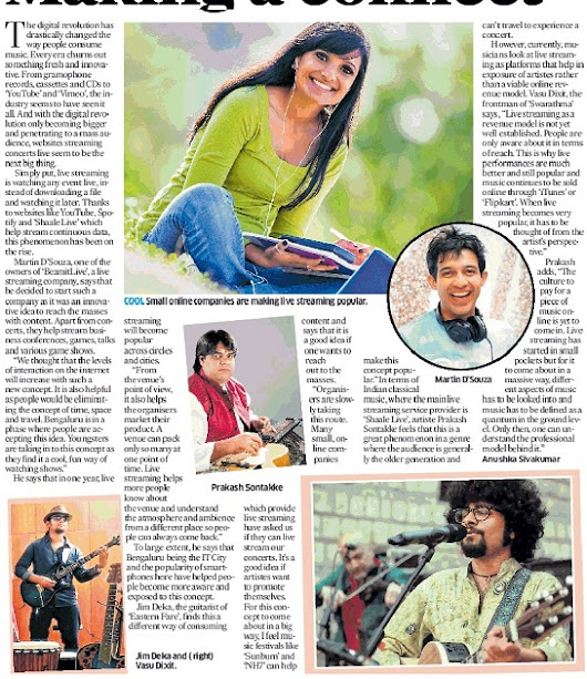 Making a connect | Deccan Herald ~ Eastern Fare Music Foundation | Music Classes in Bangalore