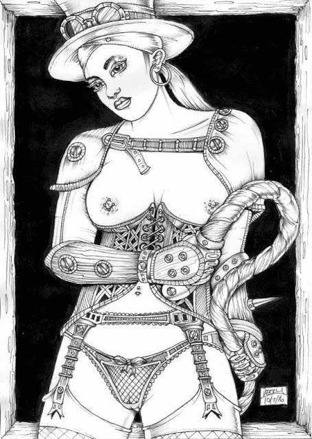 Steampunk Fetish Art Dominatrix by Spencer John Derry