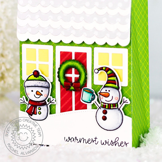 Sunny Studio Stamps: Sweet Treat Box Feeling Frosty Scenic Route Woodland Borders Holiday Themed Gift Bag by Rachel Alvarado
