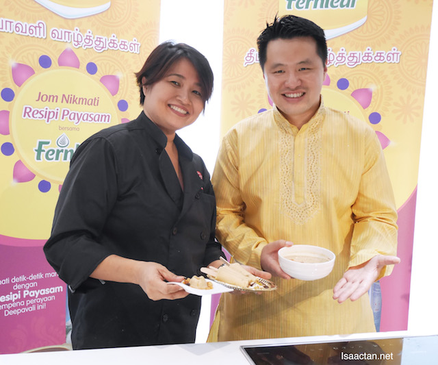 Chef Annette Isaac with Mr Martin Soong, Marketing Manager of Fernleaf