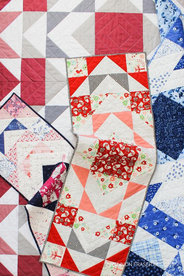 Modern Aztec quilt pattern variations | Shannon Fraser Designs