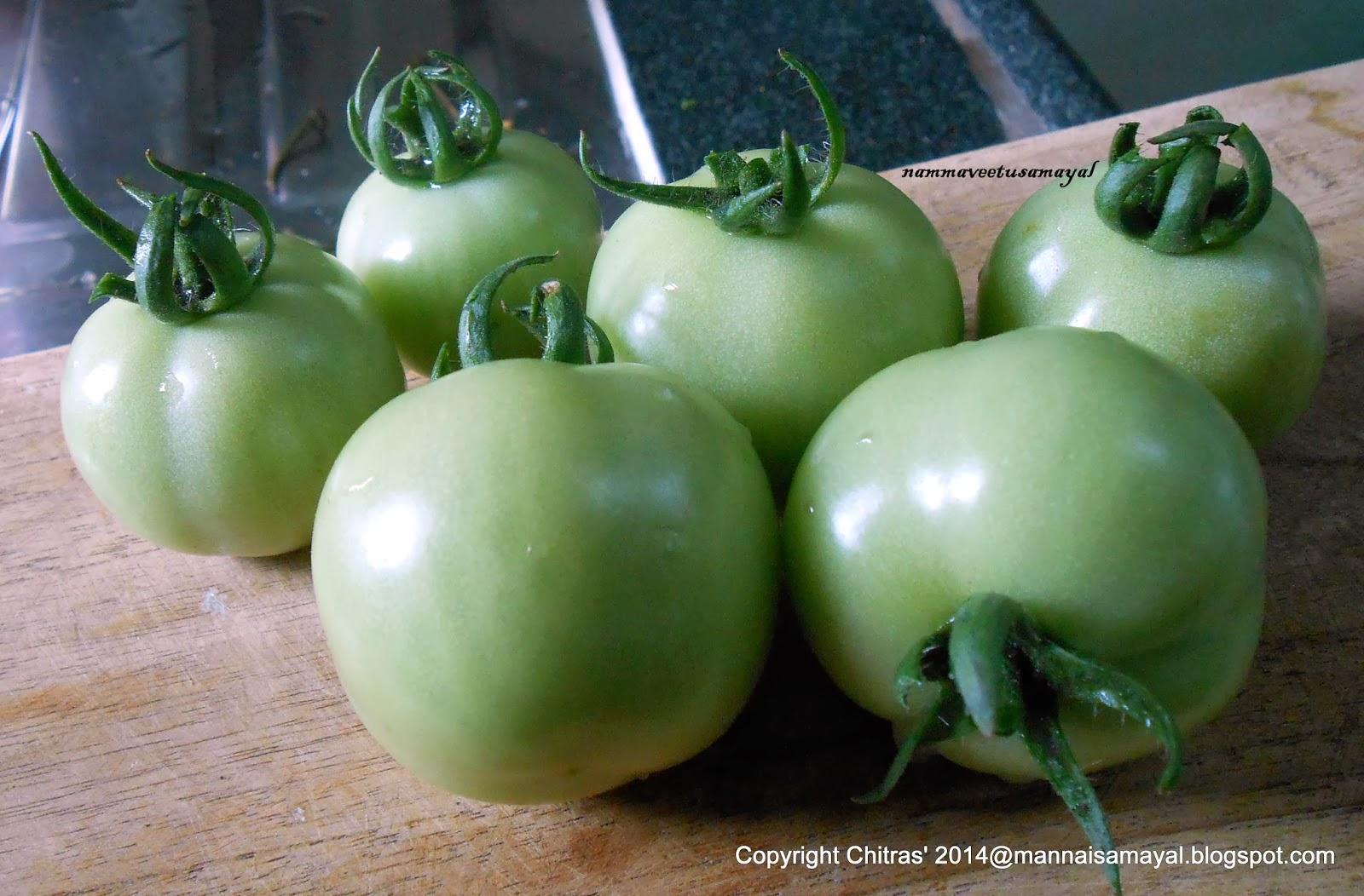 Thakkali Kai [ Unripe Tomato ]