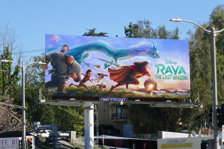 Raya and the Last Dragon film billboard