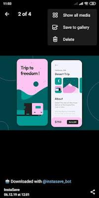 تنزيل منشورات انستقرام عبر تطبيق تليجرام