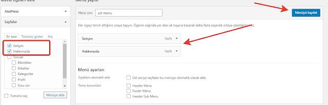 wordpress menuye özellik ekleme
