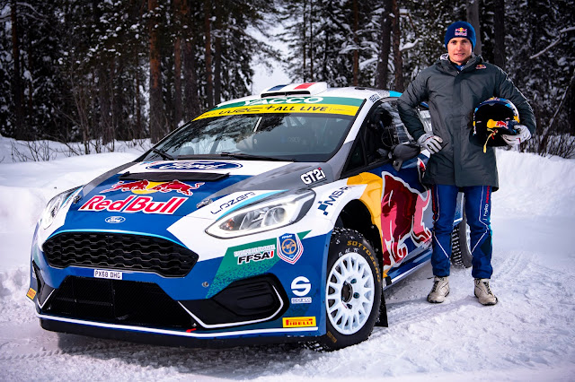 Adrien Fourmaux Arctic Rally 2020 Red Bull
