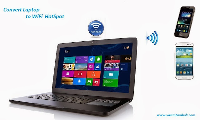 How to make Laptop as a WiFi Hub for 2G Smartphones