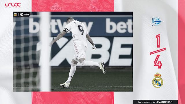 من دون مدربه زيدان، ريال مدريد يهزم الافيس بأربعة أهداف لهدف واحد.