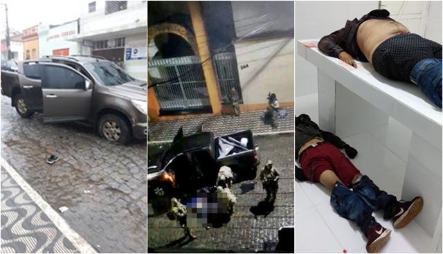 Assaltantes de banco são mortos em troca de tiros com a Policia na Paraíba
