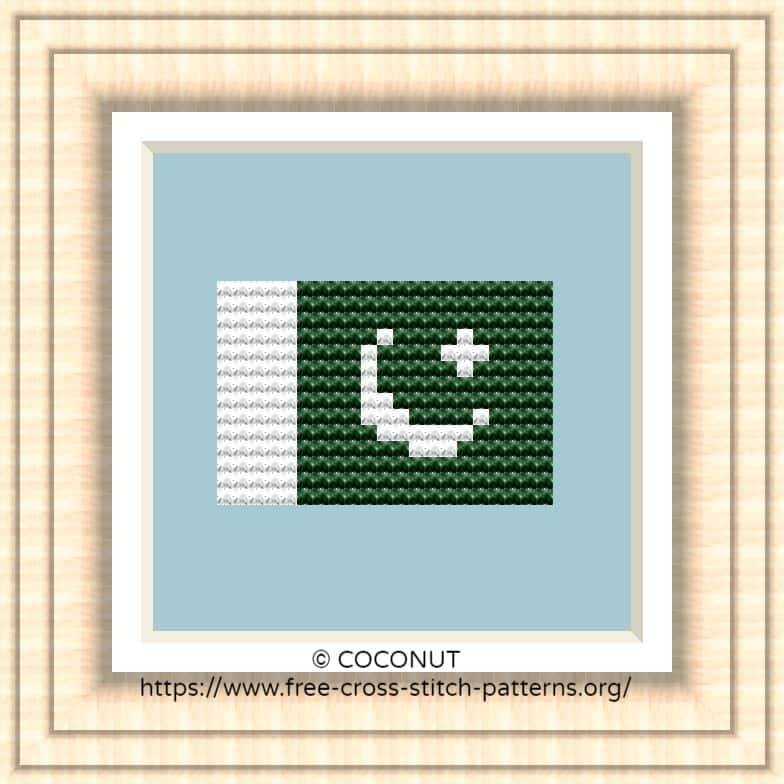 NATIONAL FLAG OF PAKISTAN CROSS STITCH CHART