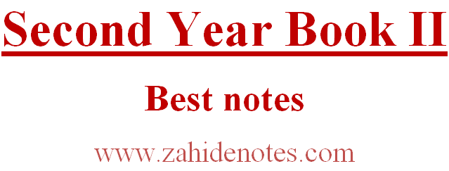 2nd Year Part II Book II Questions Notes free PDF Download - Zahid Notes