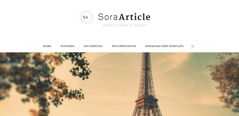 Sora Article Free Blogger Template