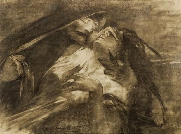 Альфонс Муха - Боснийские легенды. Мурсия — Леди чума. 1899