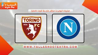 مباراة نابولي ضد تورينو 26-04-2021 بث مباشر في الدوري الايطالي